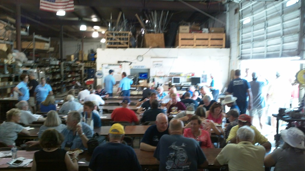 Good crowd at USA auto parts