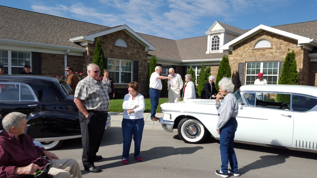 Sharing our cars and memories with the retirement home residents