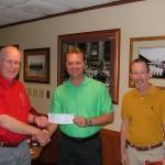 Dan Boyer presents a $1000 gift to Club President Steve C