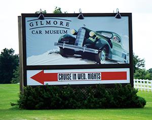 Gilmore-Car-Museum-sign