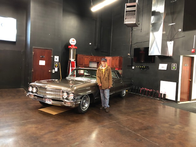 Paul with the two-toned Town Sedan