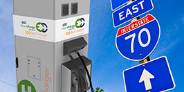 EV charging stations will string all along I 70