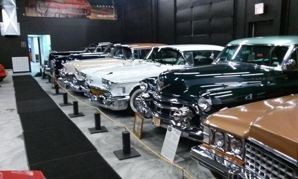 Caddies on display