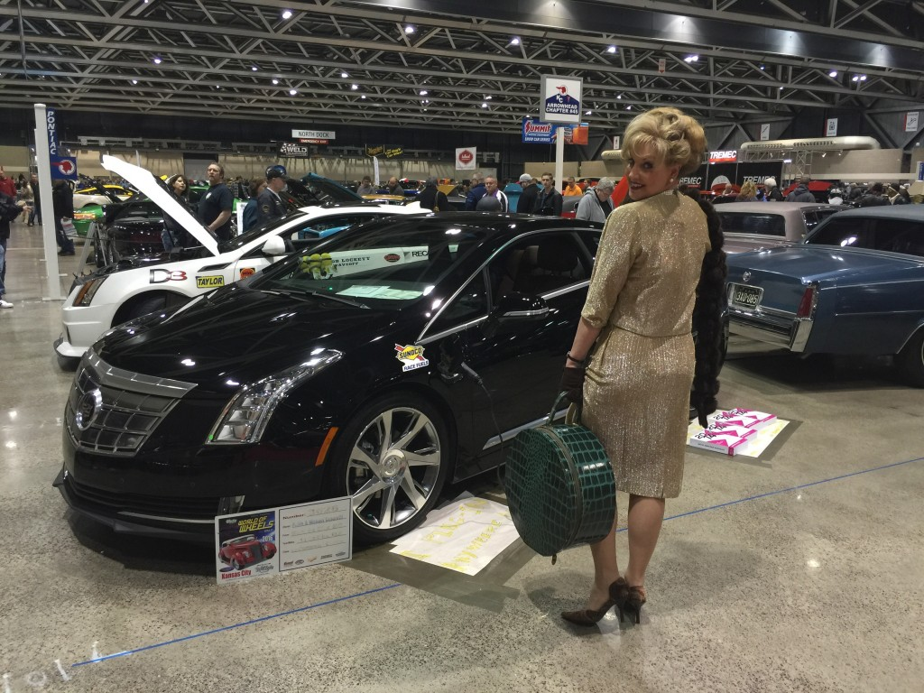 Fronzie graced the Cadillac Club display Saturday with no less than four smashing outfits.