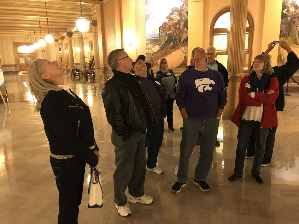 New Secretary Randall Penn (second from left) admires the Capital Rotunda