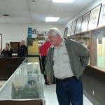 Doug browses the museum collection