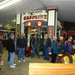 Members visit Todd William's own gasoline alley