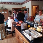 A great turnout for the pot luck