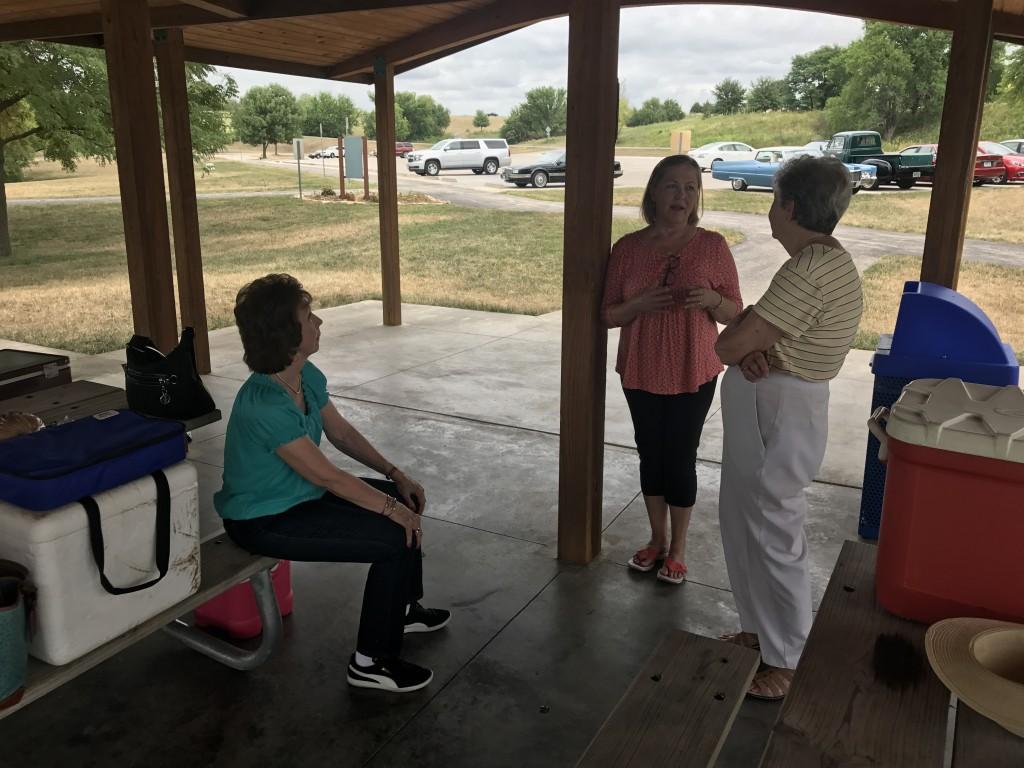 Susan, Karen and Pat share a thought