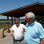 Vice President, Doug (right) chats with JR at the picnic