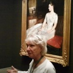 "Tour guide, Ann, leads a discussion of Sargent's masterpiece ""Mrs. Cecil Wade"""