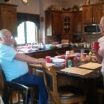 Doug and Lynn share a laugh