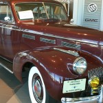 Tom Turley's '40 LaSalle looks right at home in the showroom.