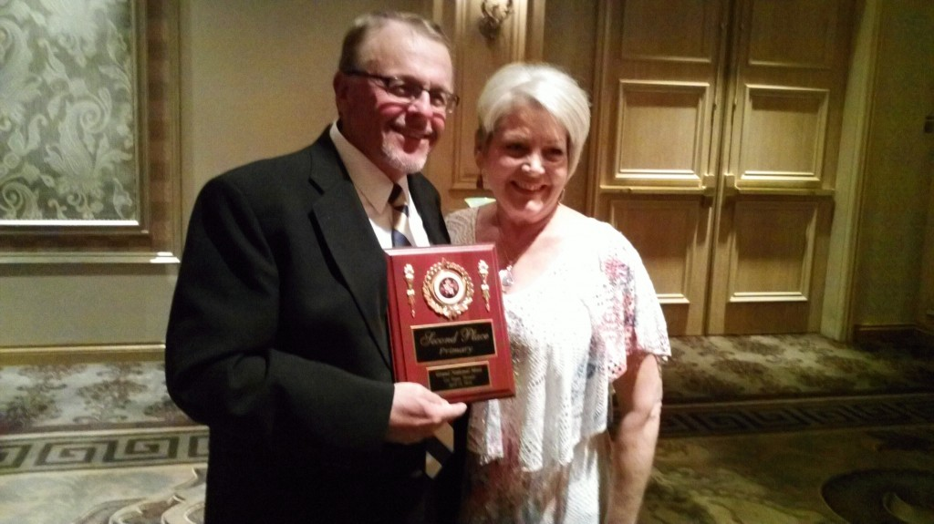 Paul and Shirley at the awards banquet