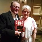 Paul and Shirley at the awards banquet